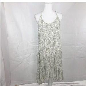 Lovestitch Med Ivory Gray with Pockets Maxi Dress